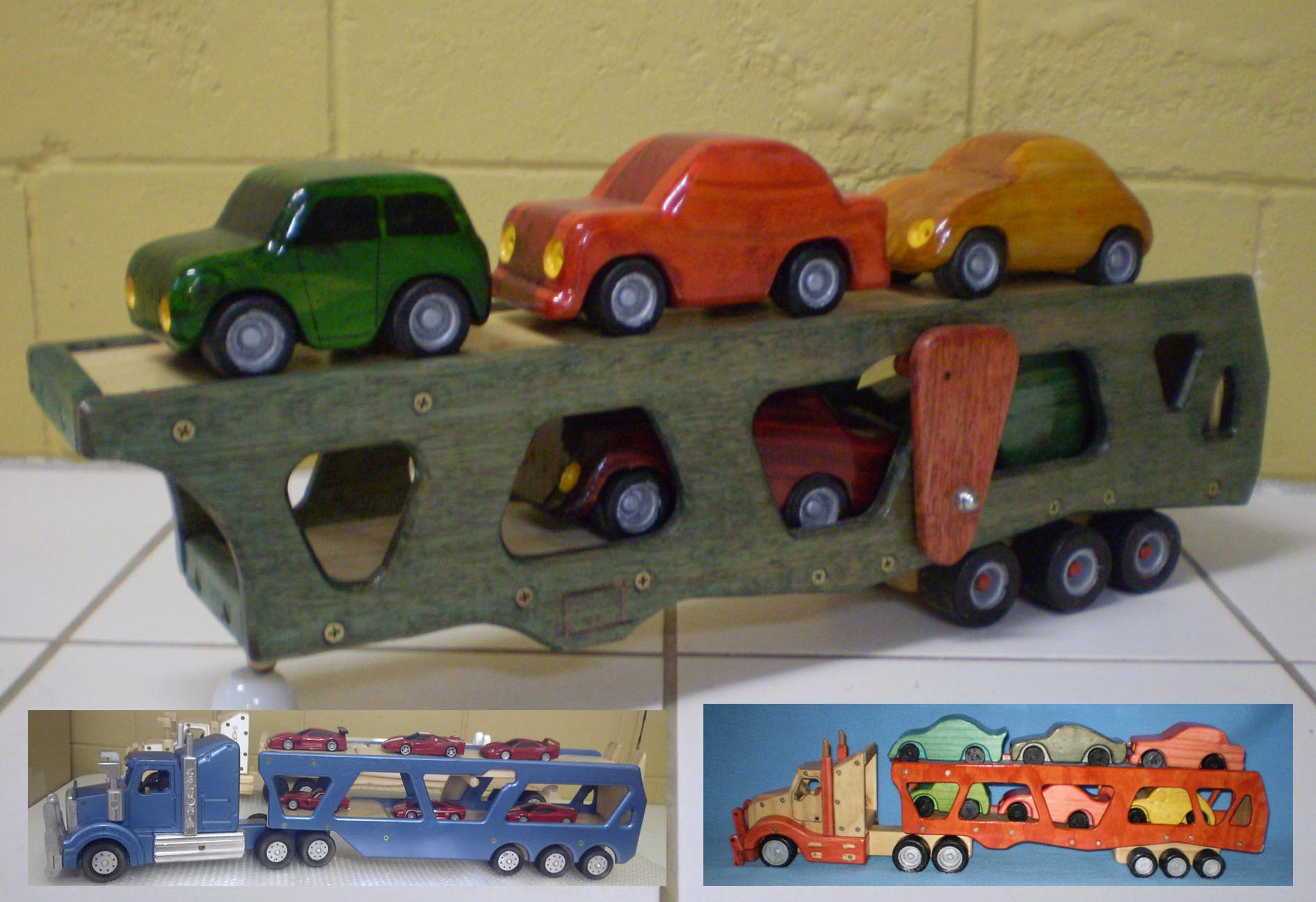 Car Trailer and wooden cars plan
